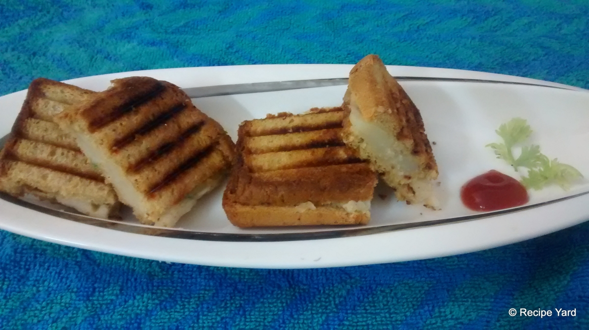 Grilled Potato Mini Squares